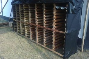 Stacking rack for Bolyn super semi roofing sheets