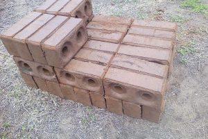 A collection of liquid mortar bricks