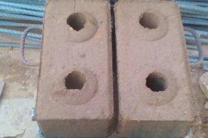 Liquid mortar bricks
